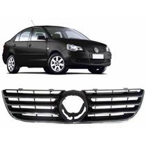 Grade Preta Volkswagen Polo 2007 A 2011 Sem Emblema