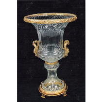 Potiche Em Cristal Baccarat Apliques Em Bronze