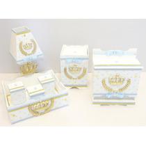 Decoração Quarto Bebe Kit Higiene Coroa Principe Mdf 7pç!!