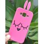 Capinha De Silicone Bichinho Pink 3d Para Samsung Galaxy J5