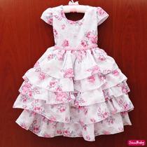 Vestido Festa Infantil Floral Luxo Princesa Formatura