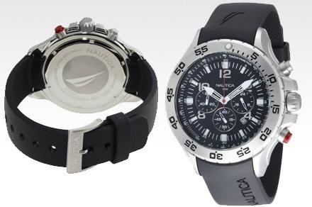 64f7fc1678d Relógio Nautica Stainless Steel N14536g Pulseira Silicone - R  465 ...