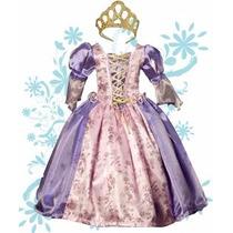 Vestido De Princesa Rapunzel Zapatos Y Corona Envio Gratis