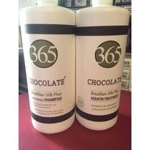 Keratina Brasileña 365 Chocolaté Para Alaciado 1000ml (24hr)