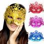 6 Mascaras Venecianas Metalizadas Con Glitter