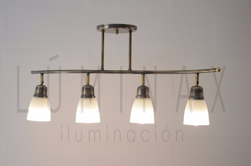 Lampara Colgante Multilampara Living Comedor Vidrio Led - $ 3.490,00 ...