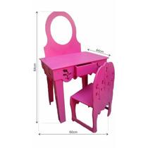 Penteadeira Infantil Barata+espelho Mdf Mod Arcadas Cor Pink