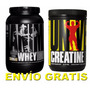 Animal Whey 2lbs + Creatina 500g Universal Nutrition