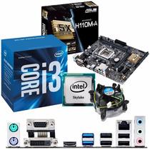 Kit Placa Asus H110m-a Ddr4 + Processador Intel Core I3-6100