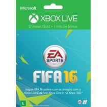 Xbox Live Gold Br 12 Meses One E 360 + Bonus 1 Mês Ea Access