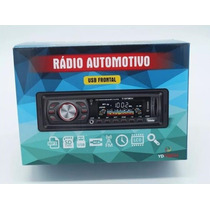 Som Automotivo Radio Am/fm Usb Mp3 Pen Drive Cartão Sd Aux