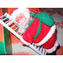 Papai Noel Musical Sobe E Desce Escada Natal Boneco Lindo