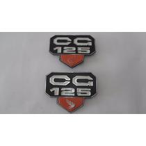 Emblema (kit) Tampa Lateral Cg 125 76 A 82 Bolinha Honda