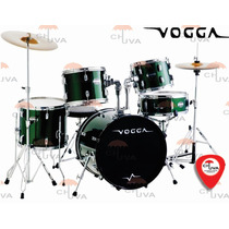 Bateria Vogga Talent Vpd924 Gr Verde Metálico Bumbo 22