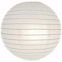 Lamparas Chinas, Color Blanco, Globos 40x40cm