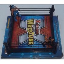 Ring En Miniatura Con Dos Luchadores