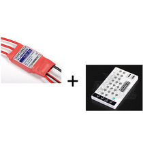 Kit Com Esc Speed Control Turnigy Plush 30a + Programador