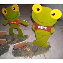 Centros De Mesa Pitufos Y Sapo Pepe!!! Fibrofacil