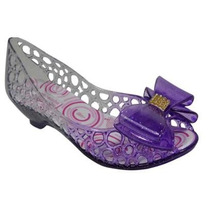 Sapato Peep Sapatilha Infantil Estilo Melissa Gliter Roxo
