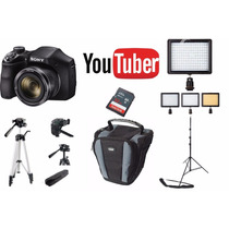 Kit Youtuber Sony Dsc H300 32gb + Tripés + Led 160 + Bolsa