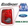 08-12 Ford Ecosport Calavera Trasera Lado Izquierdo