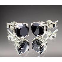 Brincos Mossanite Diamantes Negros Certificado
