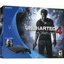 Playstation 4 Ps4 Slim Hd 500 + Uncharted 4 12x Sem Juros.