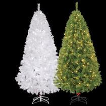 Árbol De Navidad Con 300 Luces, Pino 220cm