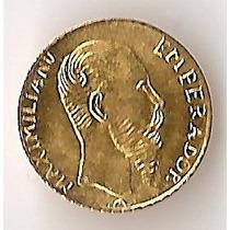 Mexico, Imperio, Peso, 1865. Oro. Reacuñacion. Sin Circular