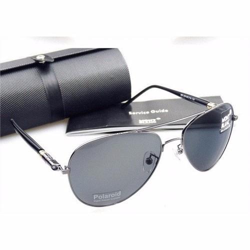 Óculos De Sol Aviador Mont Blanc Original - R  279,90 em Mercado Livre 5661b87f77