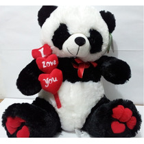 Urso De Pelúcia Panda Gigante Coração 70cm! Pronta Entrega!