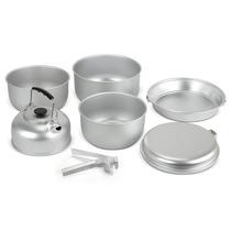 Cocinar Set - 7pc Aluminio Para Ollas Y Sartenes Gas Stove C