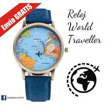Reloj Mapamundi Envio Gratis Avion Mundo Regalo Viajeros