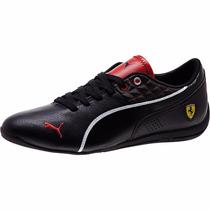 Tenis Puma Drif Cat 6 Ferrari Low Negro Total Linea Blanca