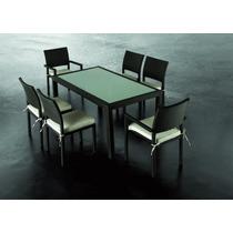 Jogo De Mesa E 6 Cadeiras Em Fibra Sintética Fábrica