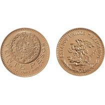 Moneda Azteca De Oro (20 Pesos Oro) Familia Centenario.