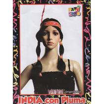 Peluca India Con Vincha Y Pluma Belgrano R