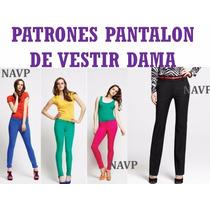 Patrones Pantalon Vestir Leggins Capris Clasico Ancho Dama