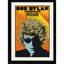 Cuadros De Bob Dyland! Ideal Decoracion, Marco Madera+vidrio