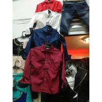 Niños Camisas Fiesta Vestir Lisas Rojas Talles 4 Al 14