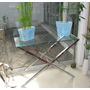 Mesas De Centro De Acero Inoxidable, Muebles Con Vidrio
