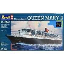 Revell - Escala 1/1200 - Navio Queen Mary 2