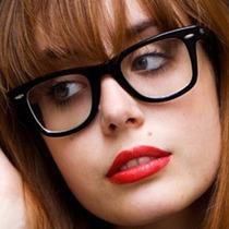 Armação Oculos Grau Barato Unissex Wayfarer Preto + Case
