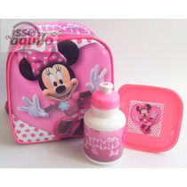 Lancheira Térmica Infantil Minnie Mouse Com Alças Promoção