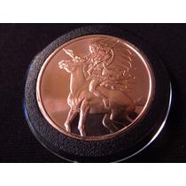 Moneda Onza De Cobre Red Horse Indio A Caballo #29