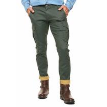 Exclusivo Pantalon Dockers Cargo Verde Militar 32 33 34
