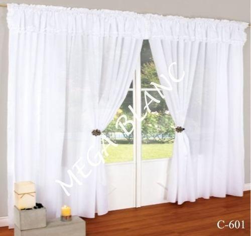 juego de cortinas mtr doble anchas para grandes ventanas
