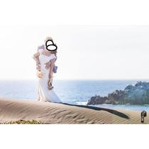 Vestido De Novia Maravilloso En Lino -estilo Hippie Chic -