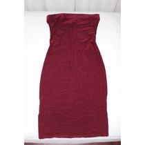 Vestido De Fiesta Dama Bordeaux Strapless S Estados Unidos