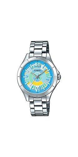 6c80309b9972 Casio Ltp-e129d-2a Reloj Analogico De 3 Manecillas De Acero ...